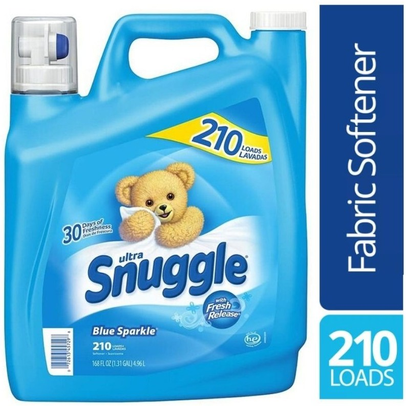 Snuggle 스너글 블루 스파클 고농축 섬유유연제 4.96L Blue Sparkle Fabric Softener, 1개