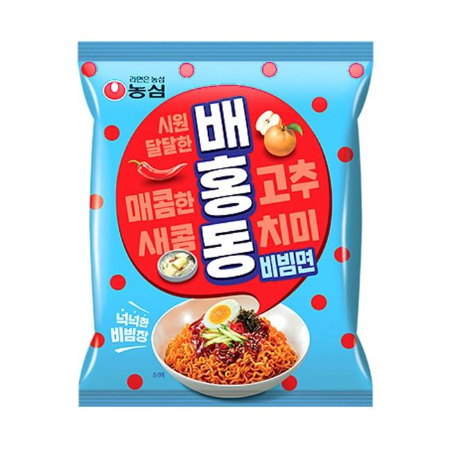 농심 배홍동 비빔면 137g x8봉, 8봉