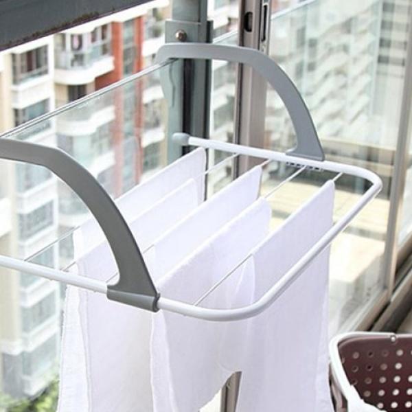 [갓샵] 아이디어 창틀건조대 원룸창문 미니간이걸이 매직행거소형, 1개