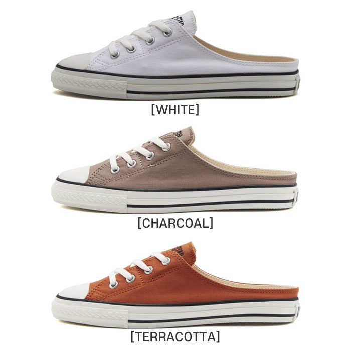 CONVERSE 컨버스 뮬 슬립온 신발 화이트 차콜 TERRACOTTA CONVERSE ALL STAR S MULE SLIP OX