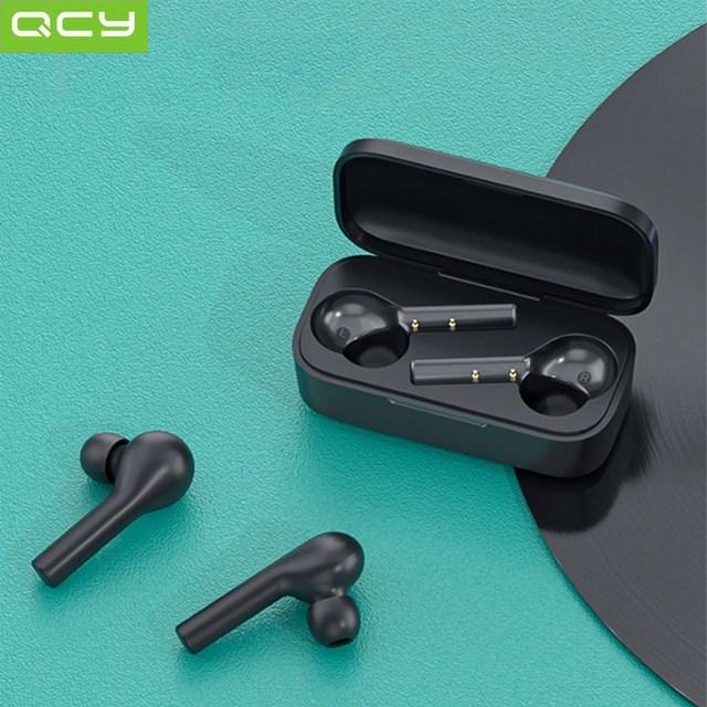 QCY T5 터치형 무선 블루투스이어폰(AAC오디오 380mAh대용량배터리) 블루투스이어폰