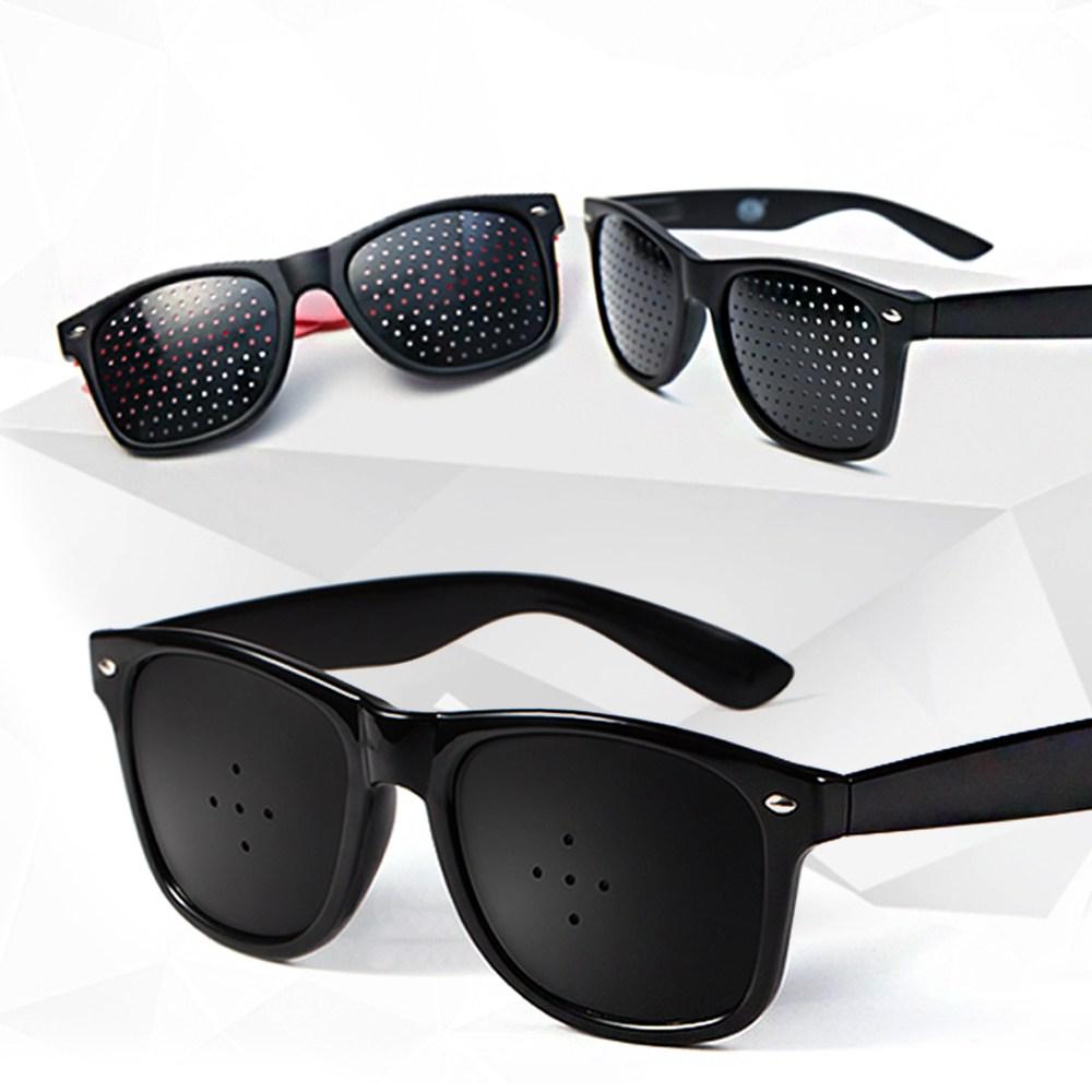 핀홀안경 안경 눈 시력 눈보호 시력강화 선그라스, 5공형 핀홀안경