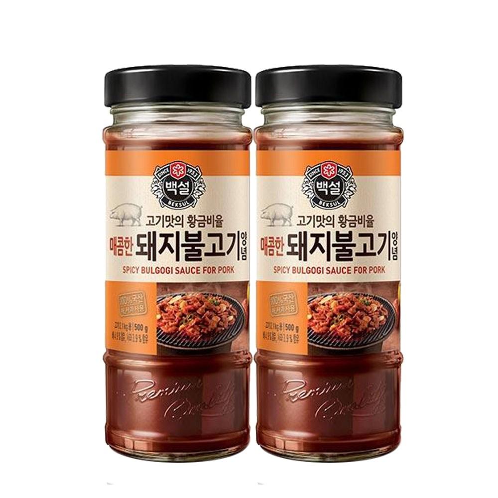 (상온)백설 매콤한 돼지불고기양념500gx2개, 1세트