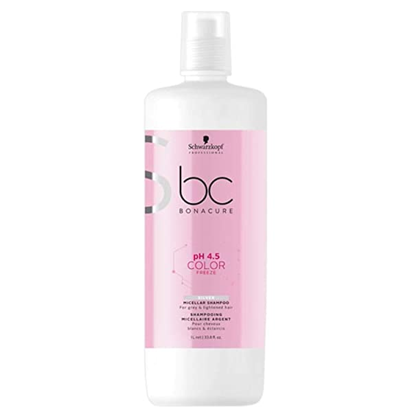 Schwarzkopf Professional BONACURE ph 4.5 Color Freeze Silver Shampoo 1 l, 단일상품, 본문참고, 본문참고