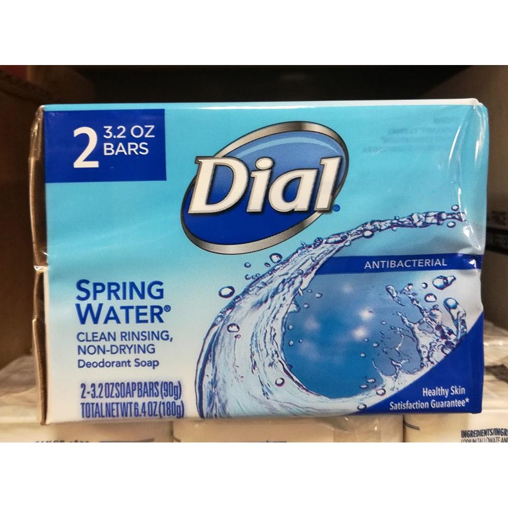 Dial spring water deodorant antibacterial soap bar 다이얼 스프링 워터 탈취 항균 비누 2개입 6.4oz(180g) 4팩, 1개
