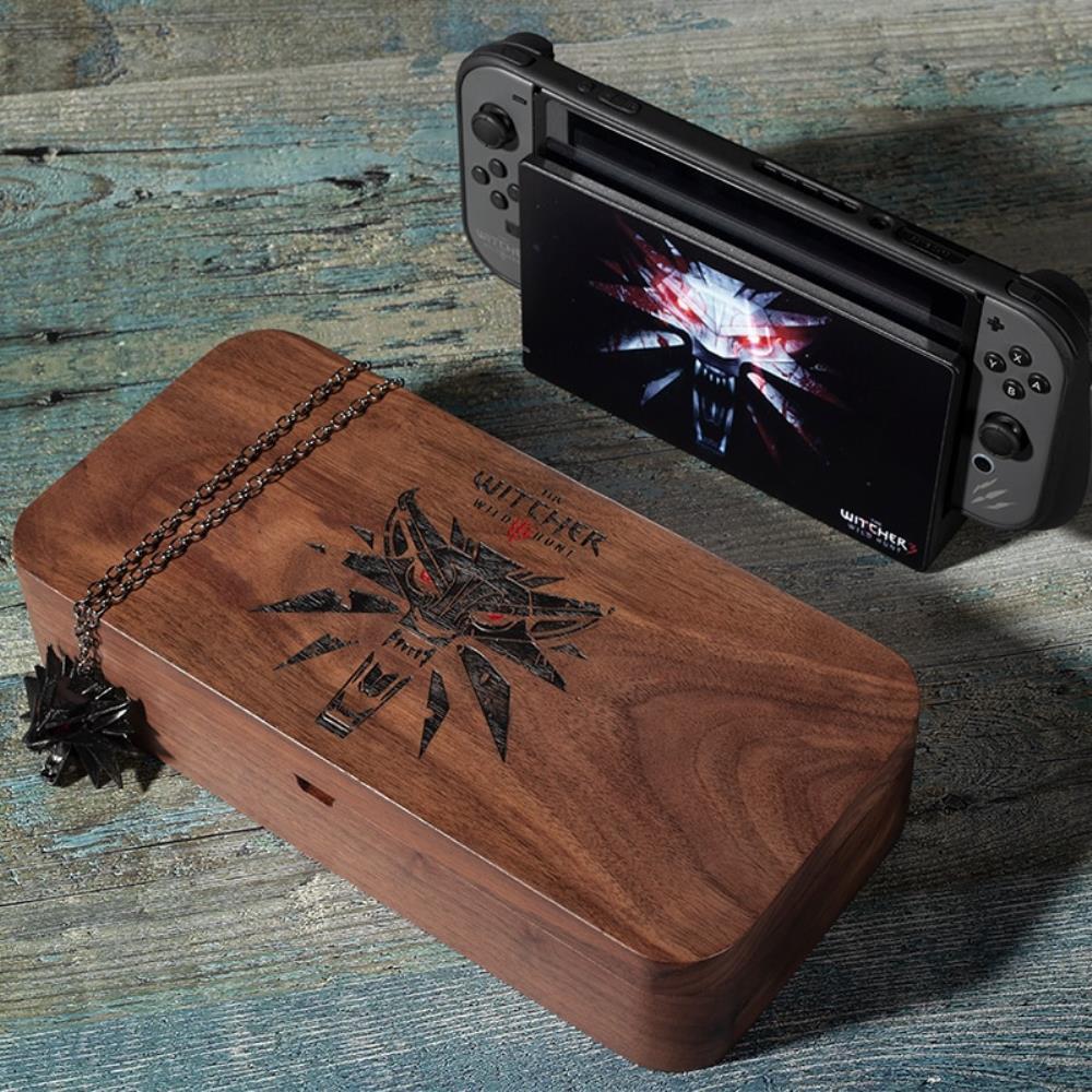 해외직구 닌텐도 스위치 위쳐3 월넛 스토리지 박스 목조 케이스 콘솔 스토리지, WitcherIII box