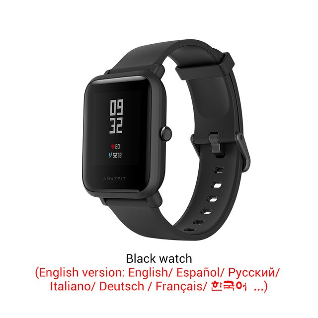 [해외]Amazfit Bip Lite 스마트 시계 3ATM 방수, OneSize, black watch 29