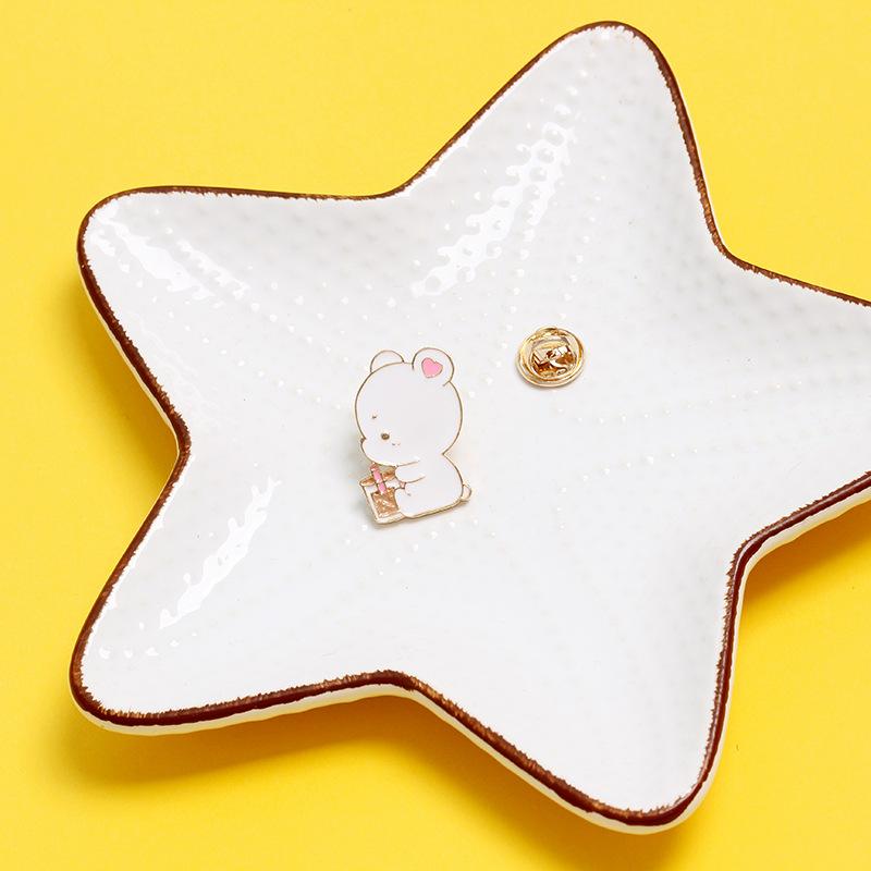 오케이유통 패션브로치 CUDIE 떼지어 모이다 나비 오리지널제작 디자인 큐트 고양이 합금 기름 방울 배지스티커 스타일리시