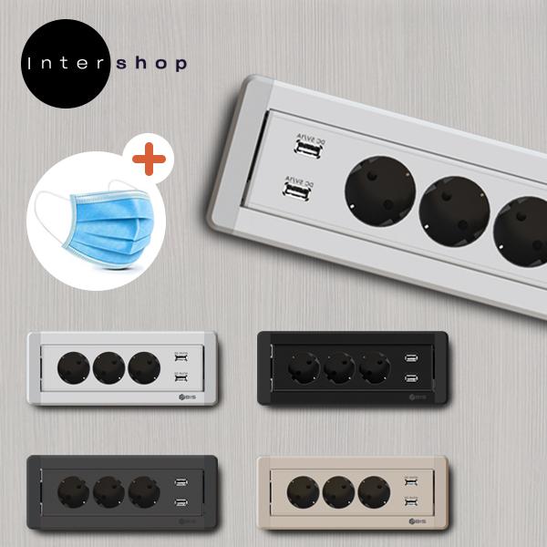 비아이에스 BID-203M 빌트인 회전매입 콘센트3구 USB충전 인테리어타입 가구상판매립 모음, 2번