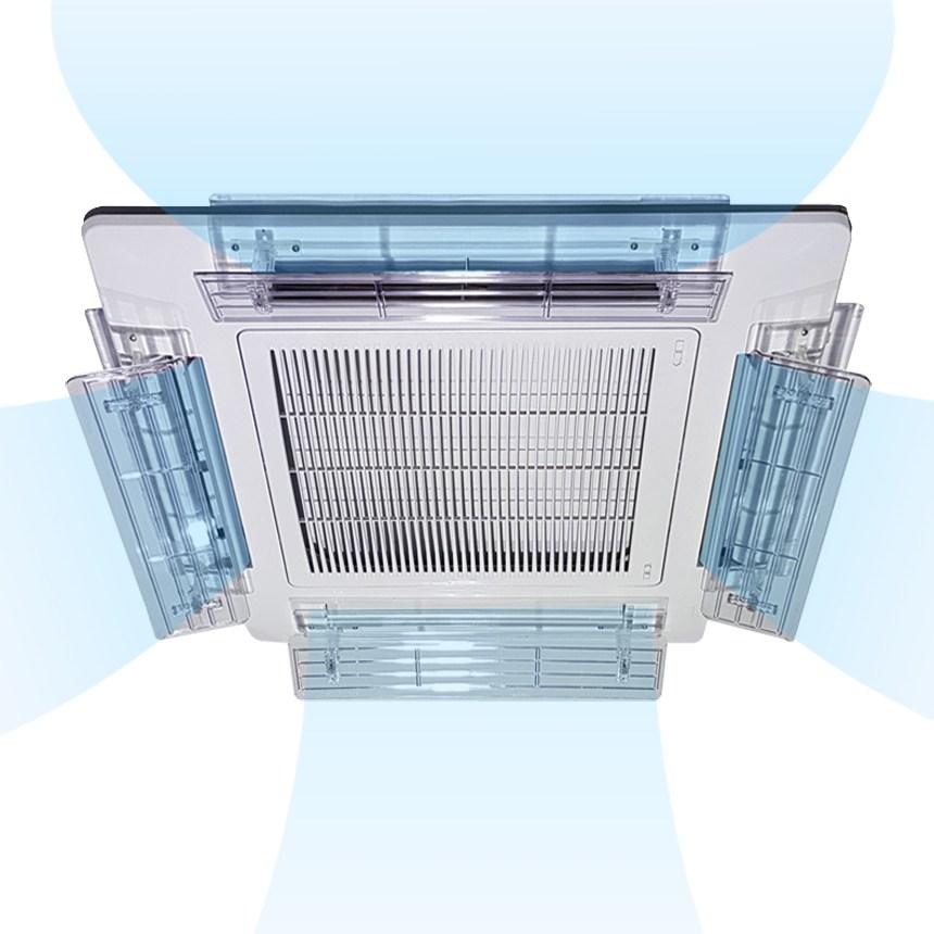 4웨이 시스템 천장형 에어컨 바람막이 윈드바이저 1EA, (4웨이용)이지 컨트롤 블레이드(낱개1개) (POP 2373909640)