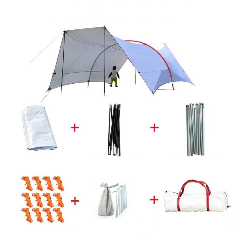 해외직구 6미터 방수 대형 렉사 타프 차박 대형 천막 텐트 캠핑, 1개, 화이트 헥사 타프
