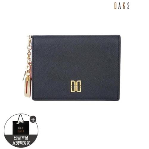 [닥스핸드백]블랙 배색 참장식 카드지갑 DCWA0F012