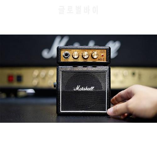 마샬 MS2 미니 기타 앰프 팜 휴대용 소형 스피커 악기 액세서리 Marshall M