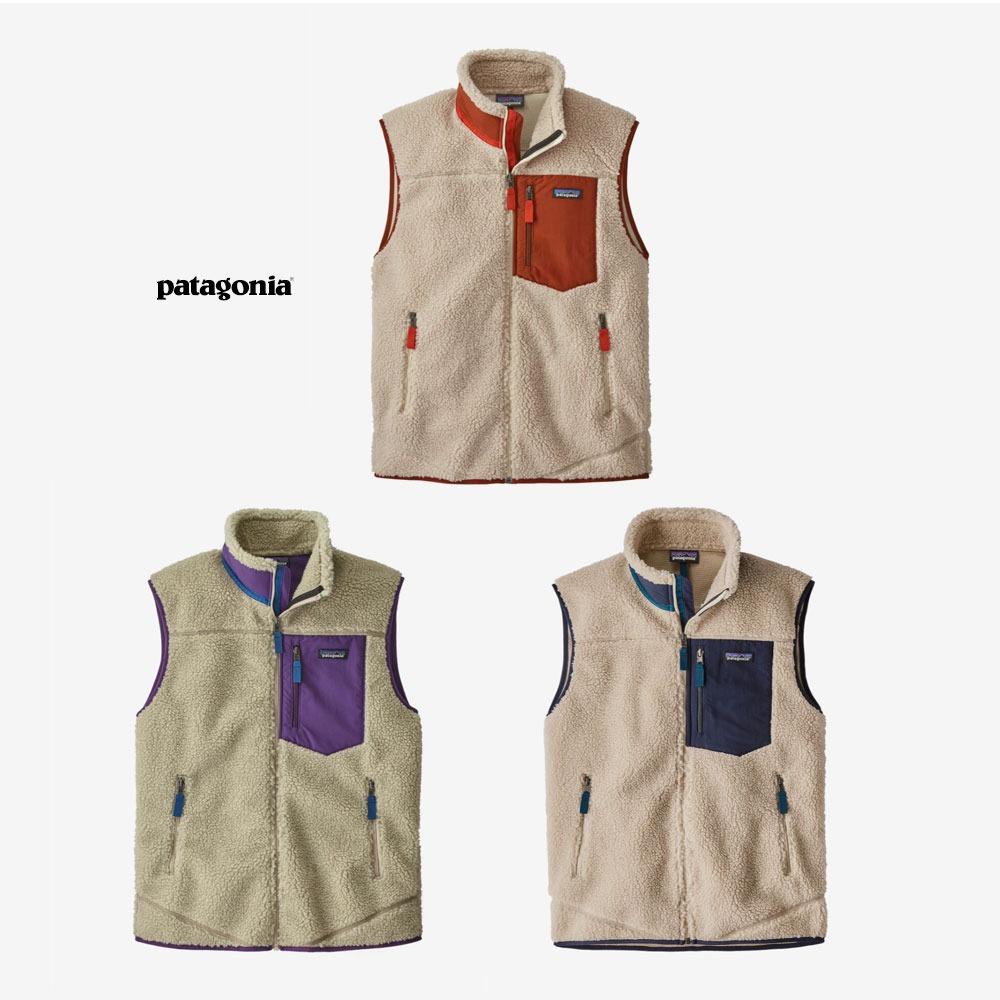 파타고니아 맨즈 클래식 레트로 X 후리스 베스트 조끼 23048 Patagonia Classic Retro-X Fleece Vest