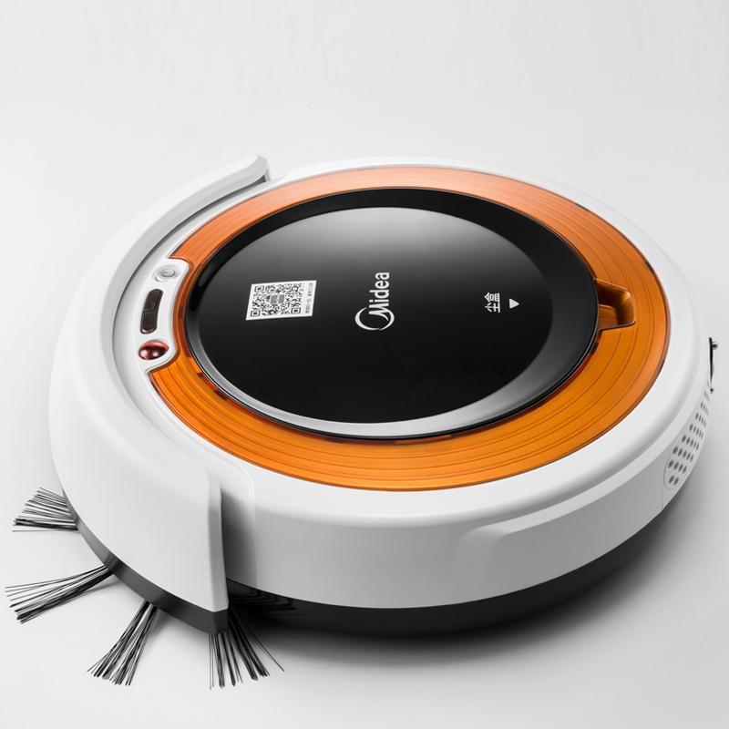 물걸레 로봇 청소기 추천 Midea 청소 홈 원격 제어 자동 충전 스마트 진공 무선, 노랑 (POP 5650641494)