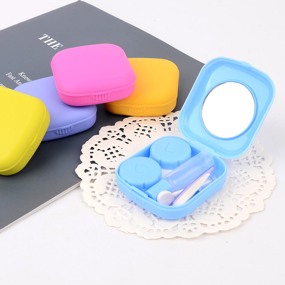 콘택트렌즈케이스 2개 용품 세트 집게 석션 휴대용렌즈통 렌즈보관, 1개
