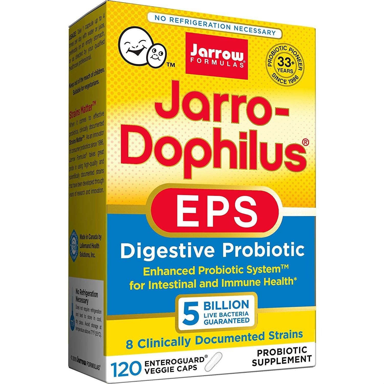 재로우 자로-도필러스 EPS 다이제스티브 프로바이오틱 유산균 5 빌리언 베지캡, 1개, 120개입