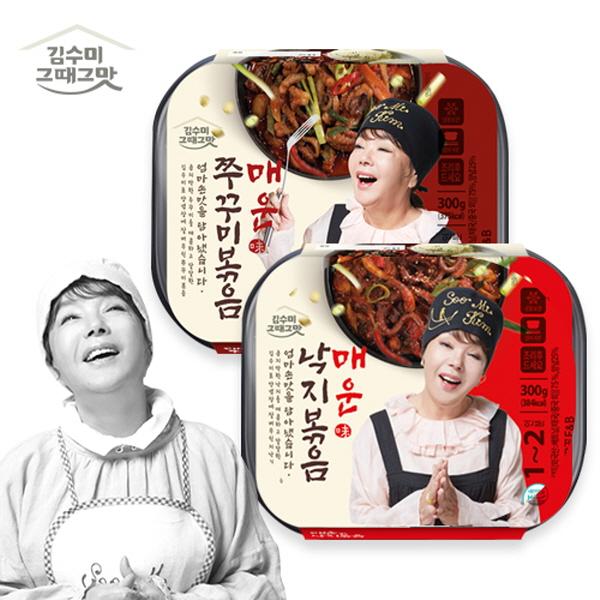 김수미 그때 그맛 낙지볶음+쭈꾸미볶음 세트 판매 모음 반찬 술안주, 낙지볶음1 + 쭈꾸미볶음1 2팩