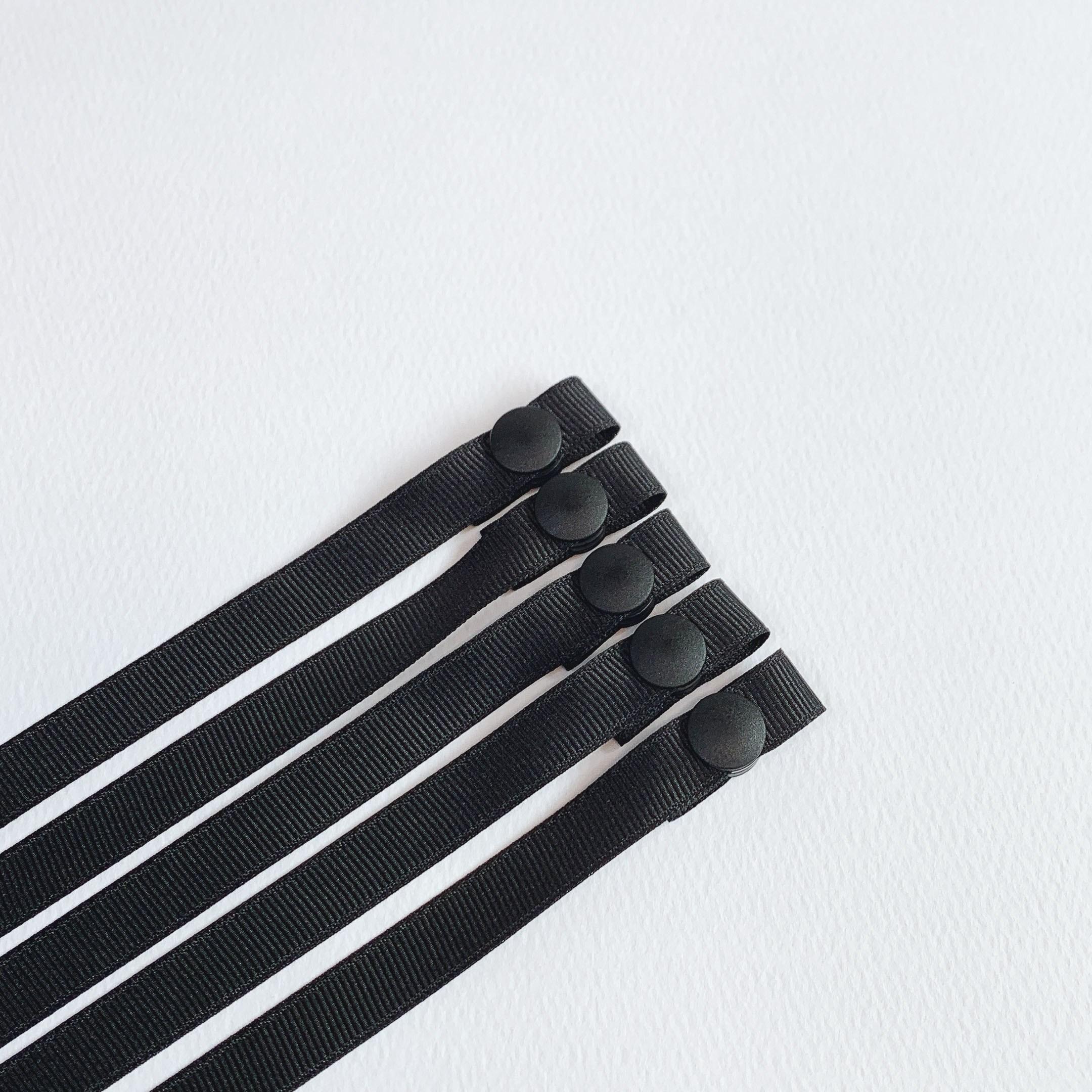 쏘엘 남녀공용 마스크 스트랩 블랙에디션 5P세트