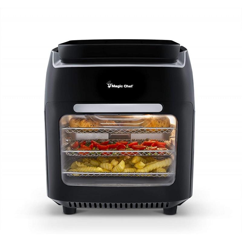 Magic Chef MAF105BKD0 디지털 제어 기능이있는 대류 토스터 오븐 에어 프라이 콤보 10.5 쿼터 용량, 단일상품