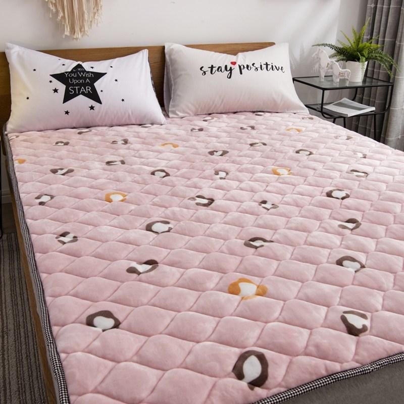 토퍼 템퍼 매트리스 침구 기타 겨울 쿠션 접이식 침대 기모 융털 매트, AG_1.0 x 2.0m