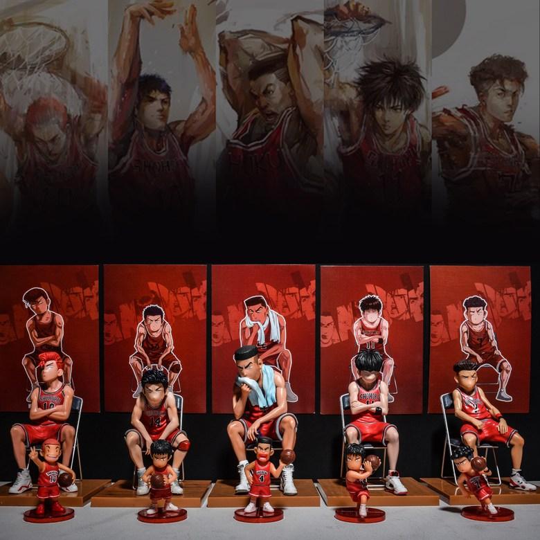 슬램덩크피규어 시즌2 30cm중대형급 키덜트, (선택5) 레드 5인세트 [Q 버전 전 세트]개