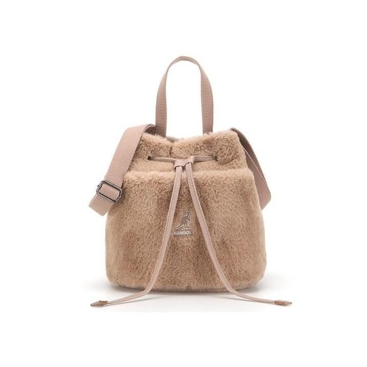 QZ 캉골 KANGOL 3772 패션 테디 버켓백 브라운 블랙