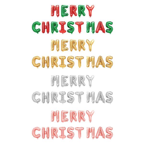 피플스파티 메리크리스마스(알파벳세트) 은박풍선 호일 파티장식, 골드, 1개