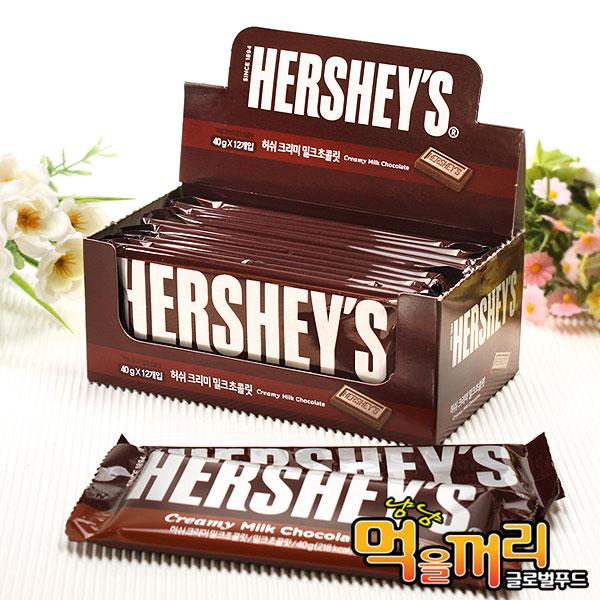 허쉬 초콜릿 (밀크) 40g x 12개, 단일상품, 단일상품