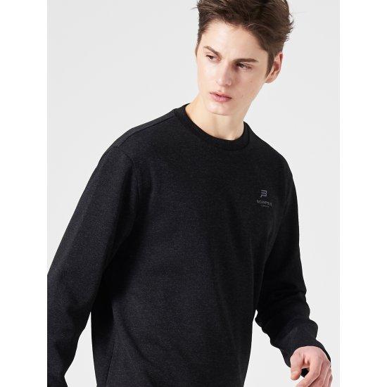 빈폴스포츠 블랙 남성 FRESHOLE 배색 티셔츠 (BO9241F025)