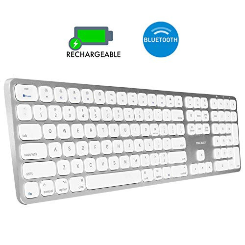 무선마우스 Macally Bluetooth Wireless Keyboard for Mac - Compatible with All Apple Computers & Laptops iMac Mini/Pro MacBook Pro/Air iPad iPhone - Sli, 본문참고