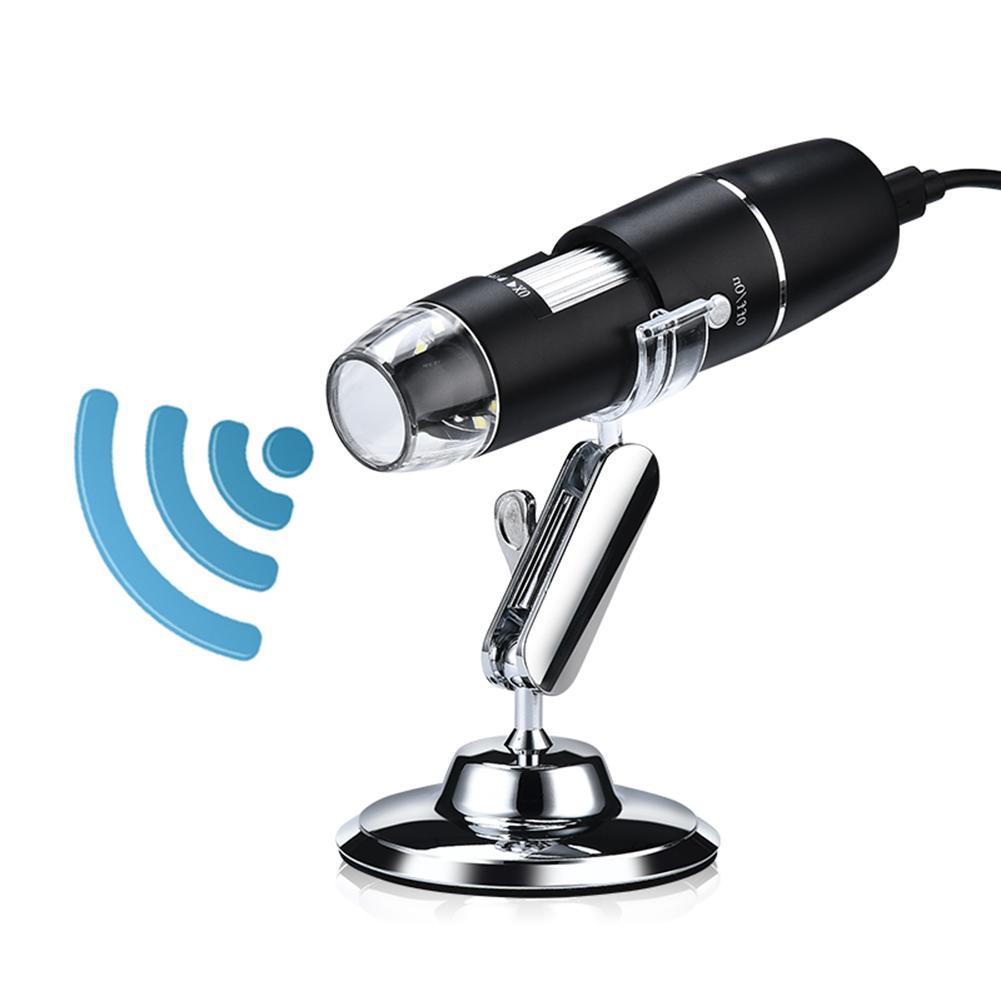 1000X 와이파이/USB 현미경 디지털 8 LED 돋보기 카메라(안드로이드 iPhone iPad 일렉트로닉 스테레오 USB 내시경현미경, 02 United States, 02 Without Wifi