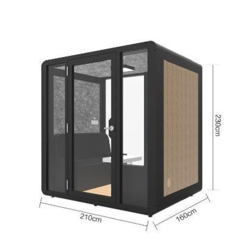 가정용 조립식 방음 노래방 부스 생방송룸 상가 이동 방음실 넷레드 앵커사의 소형 사무실, 01 B61블랙(1.4x1.2x2.3)