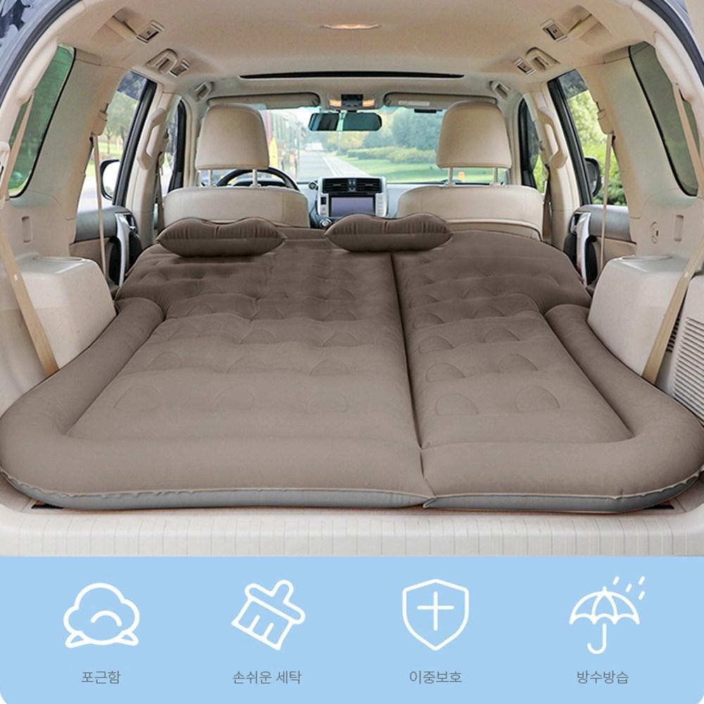 비바엔젤 SUV RV 올 뉴 카니발 쏘렌토 차량용 차박 놀이방 에어매트 침대 매트리스 에어펌프포함