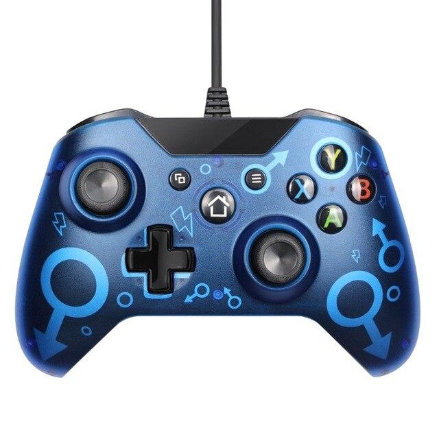 X box USB 유선 게임 컨트롤러 게임 패드 듀얼 진동 컨트롤러 조이스틱 게임 패드 Xbox 1 PC 게임 게임 액, 03 스페인, 02 2