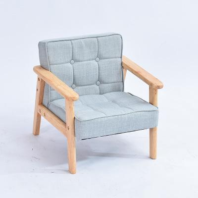 TAOYE 오크 원목 유아소파 의자 사진촬영 1인용 2인용 13컬러, 스모크 /리넨