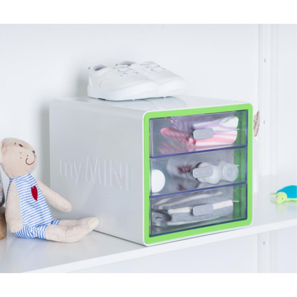 어린이집 모서리 안전 라운딩 3단 보관함 책상꾸미기, RED