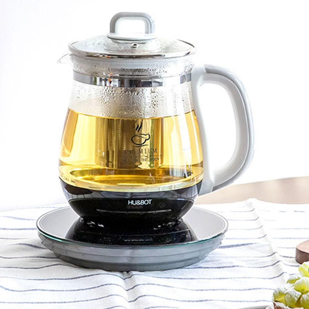 휴앤봇 전기 유리 커피 티 분유 포트 주전자, HB-8090D