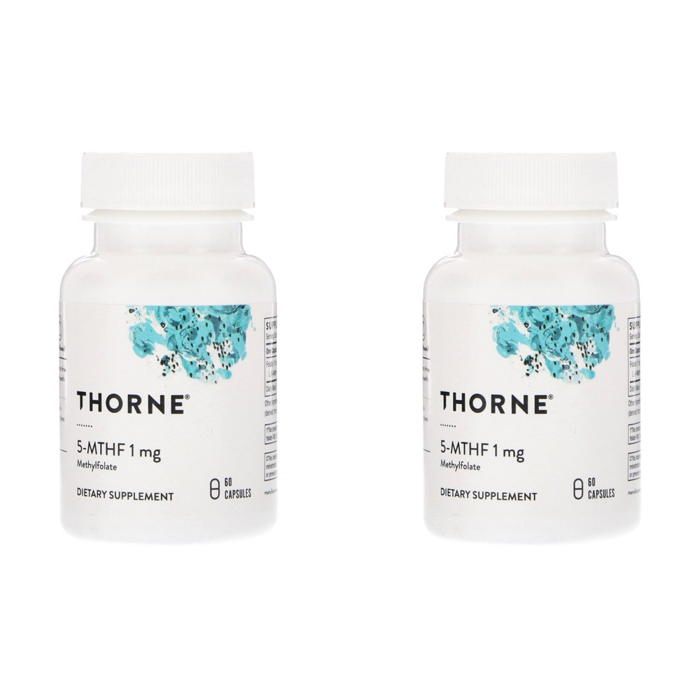 Thorne Research 5MTHF 1mg 60정 2병, 선택, 상세설명참조