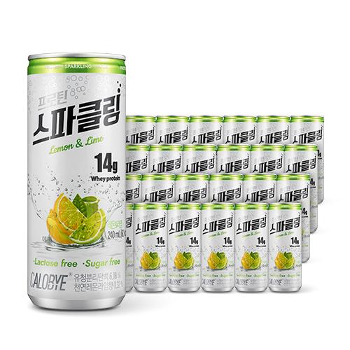칼로바이 프로틴 스파클링 레몬 엔 라임, 240ml, 48개입