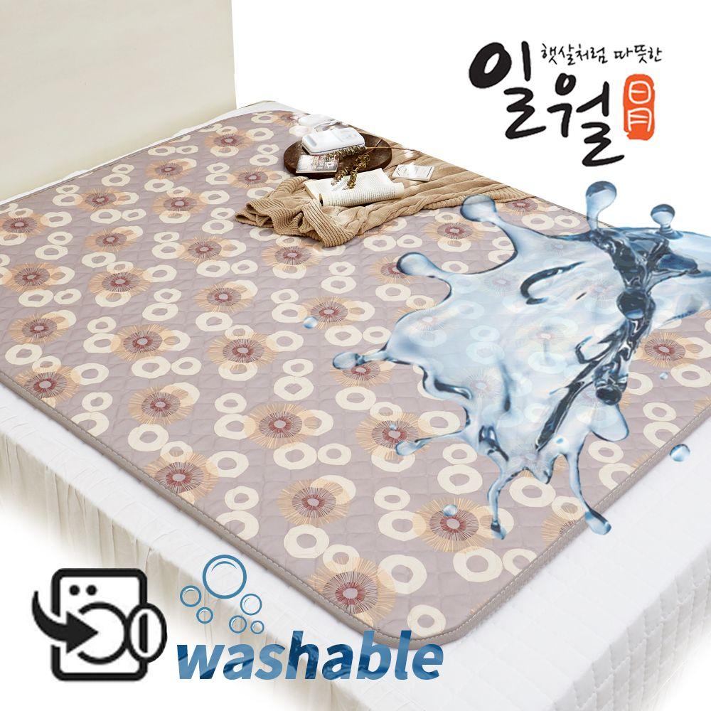 일월 잘자요 워셔블 온열매트, 민트햇살, 더블(1400 x 1800 mm)