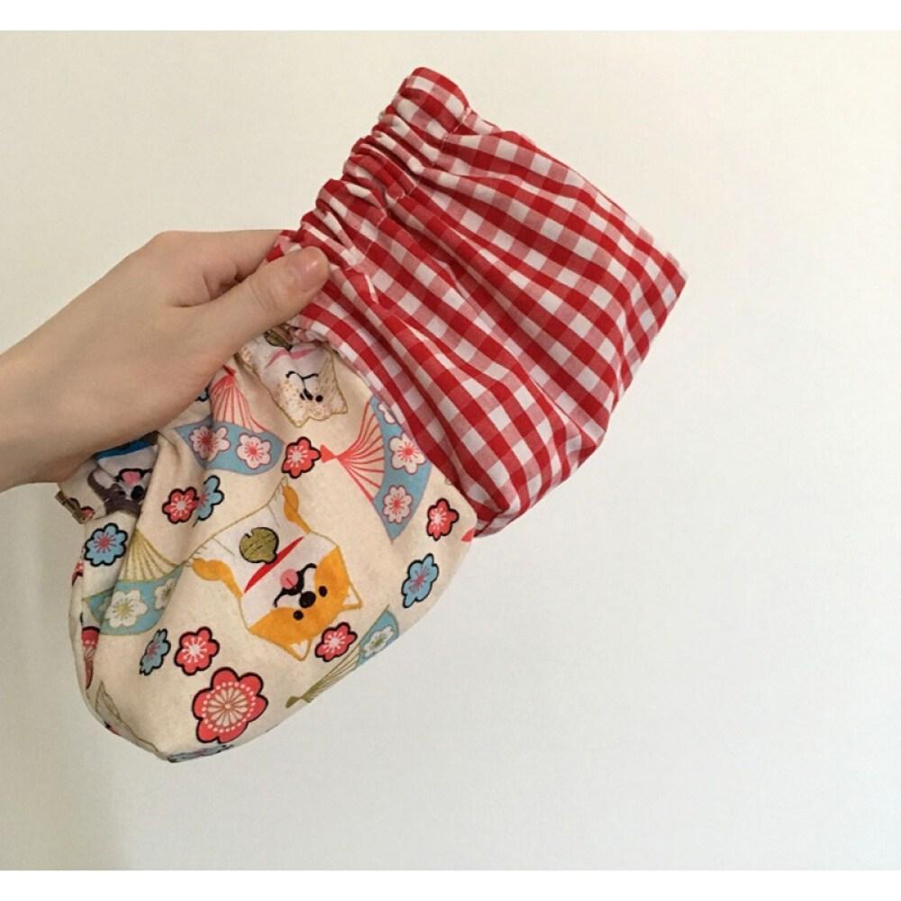 childhood 동전 가방 인 스타 그램 일과 일 화 는 귀 엽 고 빨 간 체크 잔돈 봉지 수납 소녀 쇼트 카드 지갑 i