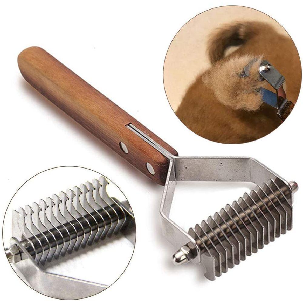 MEIBAI 애완 동물 미용 도구 전문 언더 레이크 Dematting 브러시 개 고양이 제거 효과적인 매듭 빗 흘리기, 상세페이지참조, 14 Blades-S