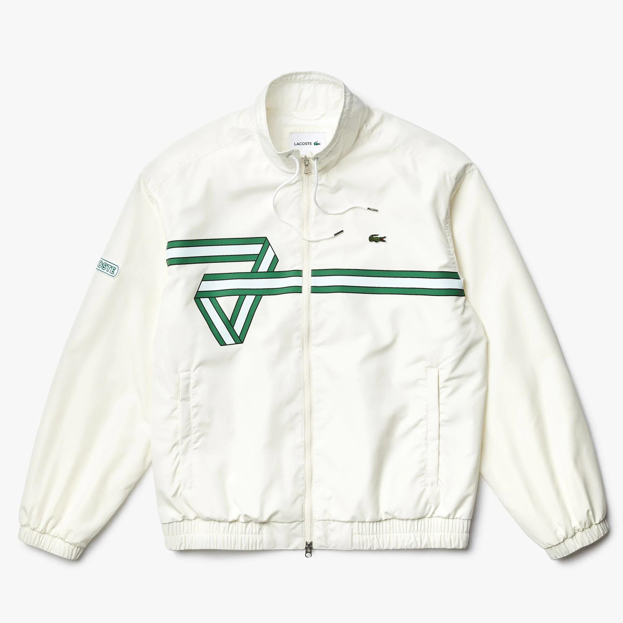 라코스테 Men's Print Band Zip Heritage Tracksuit Jacket