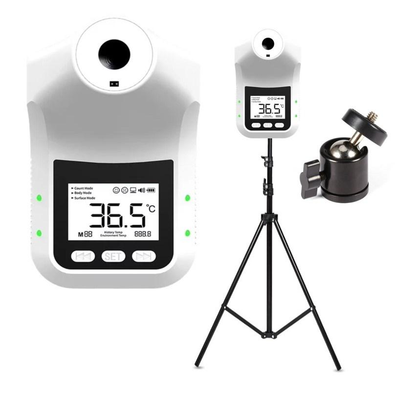 [당일출고/ KC인증/스탠드포함/무상AS] 비접촉 온도계 벽걸이 스탠드 온도계 업소용 발열체크기 온도측정기 K3Pro HK3(한국어버젼), K3Pro+프리미엄삼각대(포함)