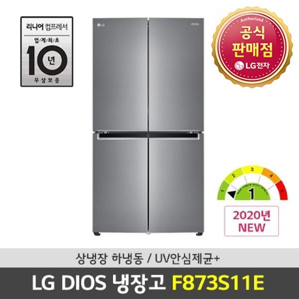 LG전자 프리미엄 엘지 디오스 4도어냉장고 양문형 냉장고 매직스페이스 상냉장하냉동 870리터 (POP 4326346809)