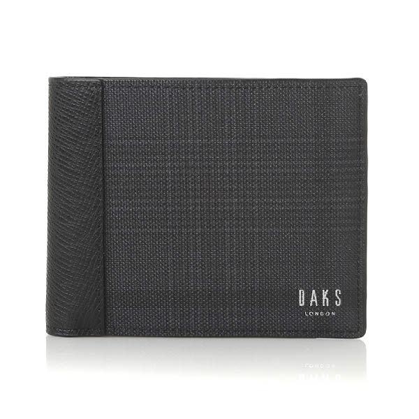 [현대백화점]닥스셔츠 DHG1ACP1106-K1 닥스 남성 블랙 에딘버러 PVC- 가죽콤비 반지갑