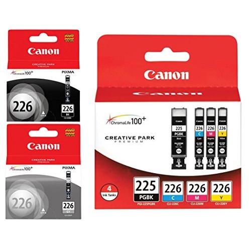 Genuine Canon PGI-225/CLI-226 Ink Tank Combo Pack 4530B008 + Canon CLI-226 Black Ink Tank 4546B001 + Canon CLI-226 Gray Ink Tank 4550B001, 본문참고
