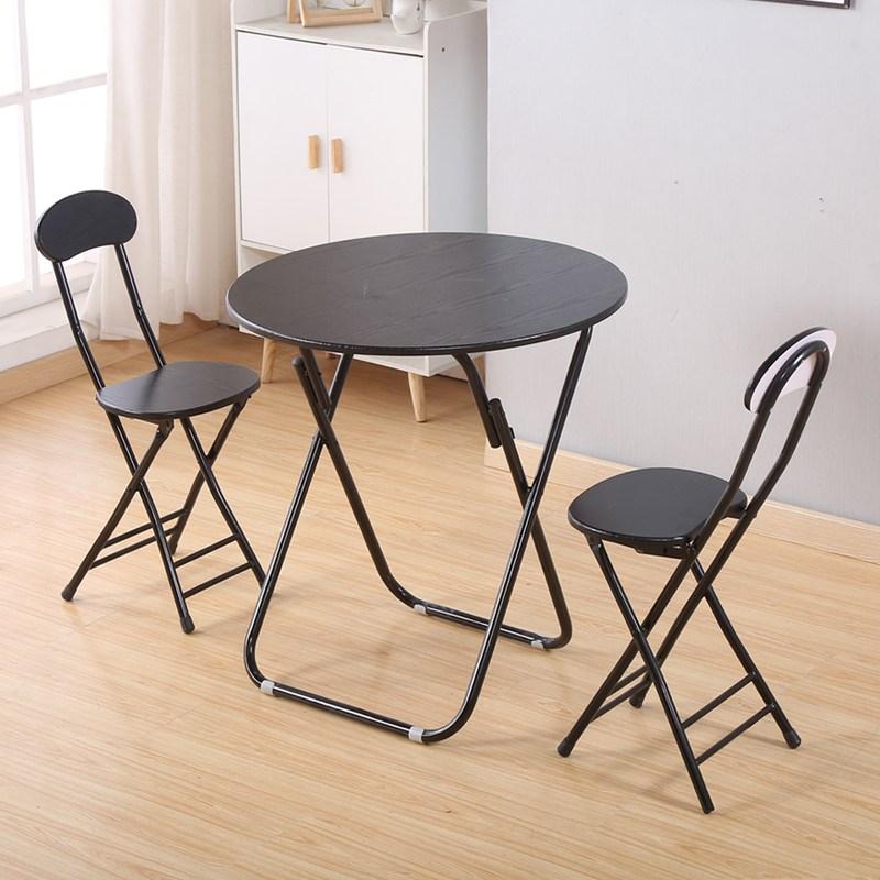 베란다포장마차 홈포차 접이식 원형 베란다티테이블 거실 카페 다용도, 1 테이블 2 의자 70 원탁 컬러 노트