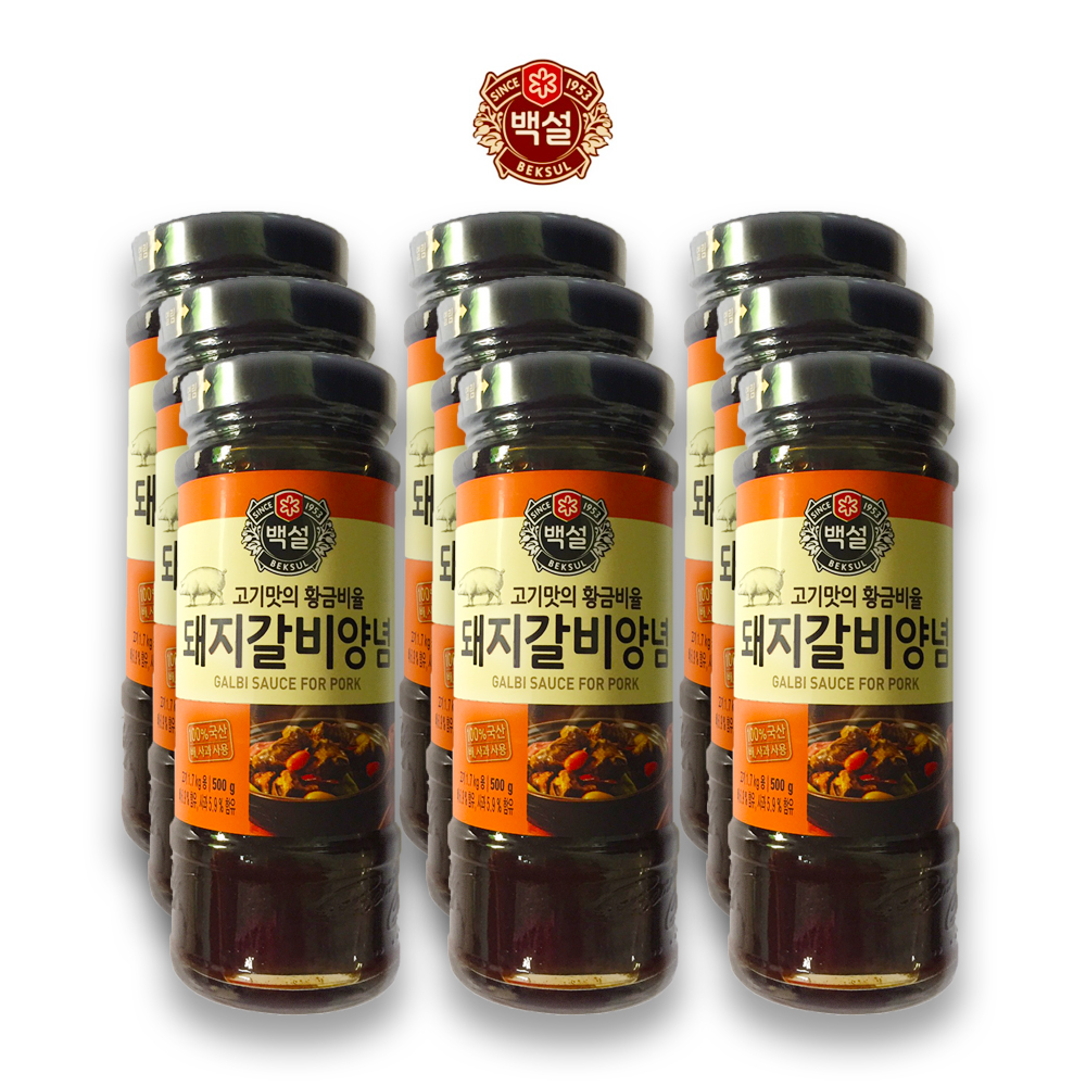 예이니식품 CJ 백설 돼지갈비 양념 9개(500gx9개) 여행간편요리소스조림볶음, 500g, 9개